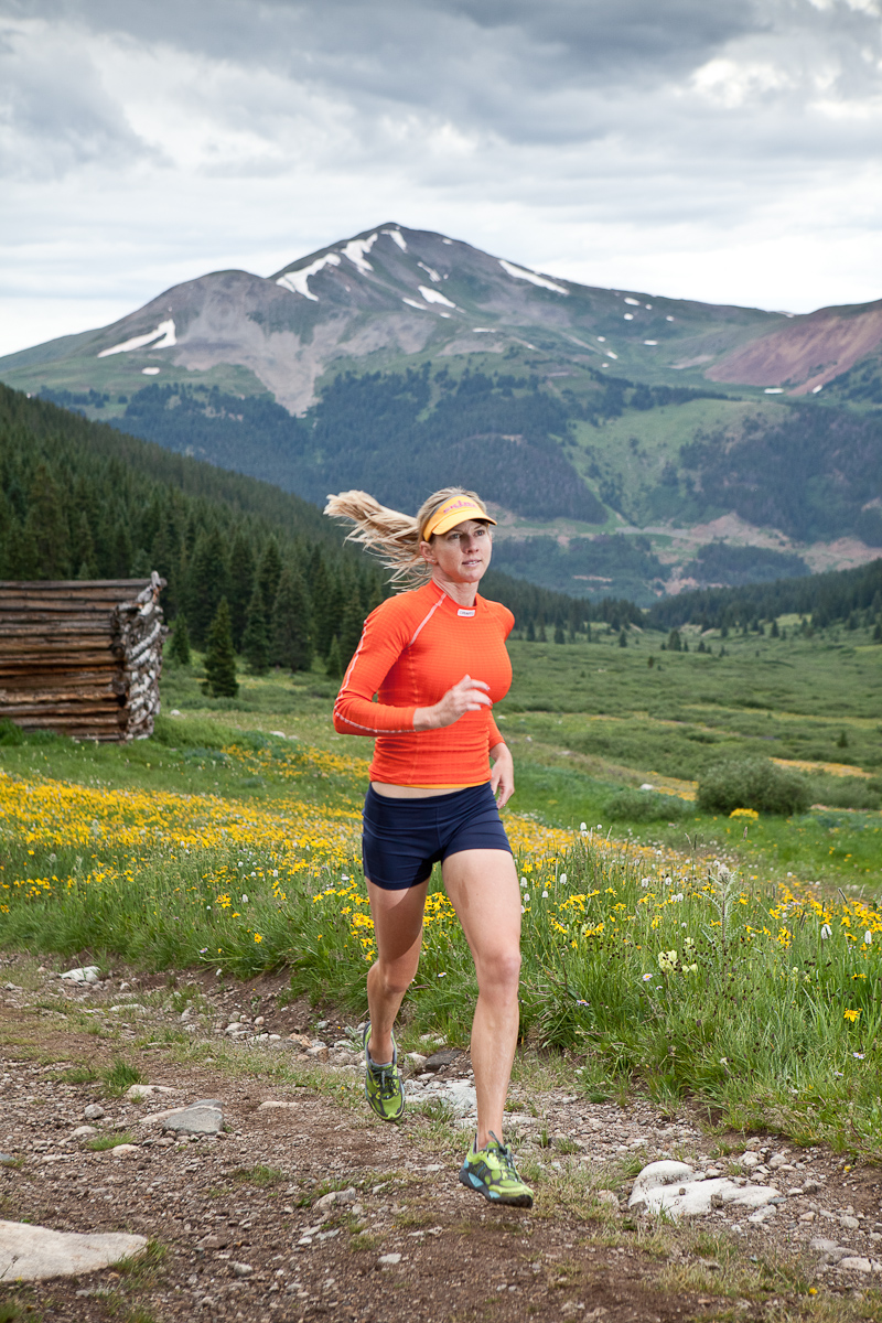 Trail running in Mayflower Gulch, Colorado